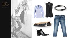 Klasyczna stylizacja z nutą nonszalancji to nasza propozycja na jesienną niepogodę.  pasek: Beltguys (www.beltguys.pl) bransoletka: Beltguys (www.beltguys.pl) koszula: Seidensticker kamizelka: s.Oliver  jeansy: Sparkz sztyblety: Wojas  zdjęcie z lewej: Stradivarius #belts #bracelets #look #fashion #leather