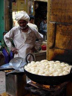 Kachori , Street Food in Rajasthan, India.