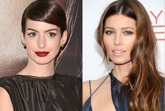 Sexy makeup looks on Anne Hathaway and Jessica Biel