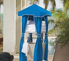 Pool Towel Storage Ideas alternate view Towel Cabana