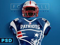 Download Football uniform Template mockup for photoshop | Camisetas ...