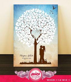 Księga Gości Weselnych - Drzewo - NA PŁÓTNIE !!!