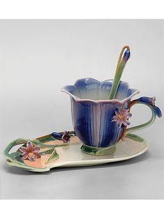 "Чайная пара ""Колокольчик"", Pavone на Маркете VSE42.RU Tea Cups, Tableware, Dinnerware, Tablewares, Dishes, Place Settings, Cup Of Tea"