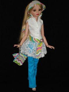 "Ellowyne Wilde Fashion Outfit OOAK 16"" Tonner Doll Clothes   ""Fun In The Sun"""