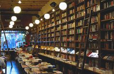 Bookstores just make me feel really happy and peaceful. It's hard to explain really.