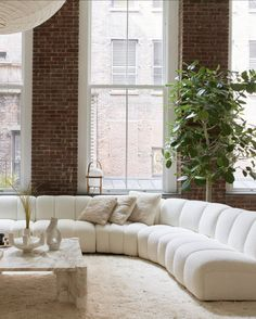 Soho Loft, Loft Spaces, Living Spaces, Living Room, Exposed Brick Walls, Soho House, Great Rooms, Interior Inspiration, Interior And Exterior