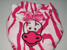 Pink Zebra Face with 3D Ears All In One Cloth by ninisayssew, $23.95