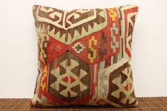 30 YRS OLD Kilim pillow cover 16 x 16 by kilimwarehouse on Etsy, $51.00