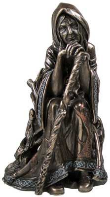 Crone, an aspect of the triple goddess (maiden, mother, crone), and the third phrase of a woman's life. In ancient times, the crone was revered as an old woman who embodied wisdom and knew the truth of cyclic existence. Crones cared for the dying and were spiritual midwives at the end of life, the link in the cycle of death and rebirth.   They were also healers, teachers, way-showers, bearers of sacred power, mediators between the world of spirit and the world of form…