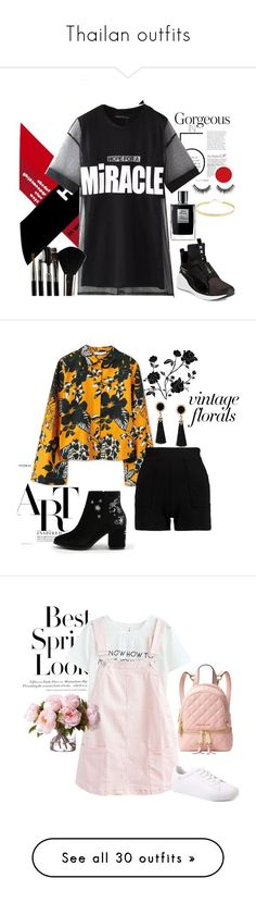 """Thailan outfits"" by rihababy on Polyvore featuring Chicnova Fashion, Lana Jewelry, Puma, Glamour Status, MANGO, H&M, Michael Kors, Hot Topic, Forever Young and Boohoo #polyvoreoutfits"