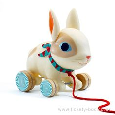 Colin the rabbit is a great companion for helping early walkers progress in their new abilities.  Durable, colourful and lovable, with ears that move, this pull along toy is guaranteed to be a new best friend.  Design by Peggy Nille.   Suitable From18+ months Dimensions19 cm long BrandDjeco Product CodeDJ06283 Barcode3070900062832