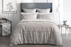 Shop our Sheridan Angelis Quilt Cover in biscuit. Sign in at www.sheridan.com.au for free shipping Australia wide.