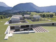 Francesco Cellini, Riconversione/riqualificazione dell'ex struttura industriale Bailo - possibly CGI, but a great idea for an earth sheltered complex