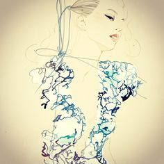 Illustration on Dripbook : : Lulu /Nadine Schemmann | Fashion Illustration | Berlin, Germany