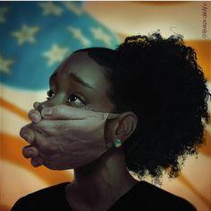 Black Love Art, Black Girl Art, Black Is Beautiful, Black Girl Magic, Art Girl, Afrique Art, Black Girl Cartoon, Black Girl Aesthetic, Political Art