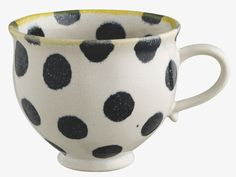 MAGDA Large black spotty mug
