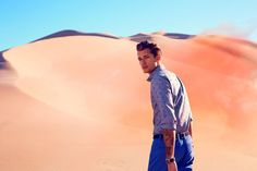 Andrey Zakharov.    #male #model #handsome #man #boy #desert #shooting #fashion #photogaphy