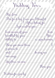 Want a fun game for your next wedding shower or bachelorette party? These wedding vow mad libs is exactly what you need - and they are free!
