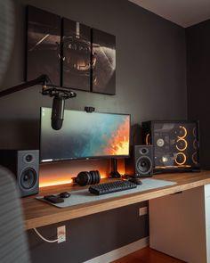 (5) Andres Vidoza (@andres_vidoza) / Twitter Computer Gaming Room, Computer Desk Setup, Gaming Room Setup, Pc Setup, Cool Gaming Setups, Gaming Rooms, Home Studio Setup, Home Office Setup, Studio Room