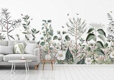 Kids' Room Ideas: Creating a Mural from Wallpaper Bedroom Murals, Wall Murals, Diy Bedroom, Scandinavian Wallpaper, Wall Art Pictures, Art Wall Kids, Room Paint, Diy Wall Decor, Elle Decor