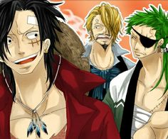 Luffy Zoro and Sanji