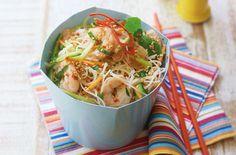 Cold chilli and sesame prawn noodle salad