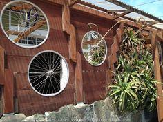 Garden bike wheel ideas | backyardrootsbook.com