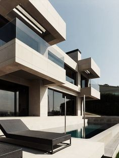 House in Mera-La Coruña by Spanish architecture firm A-cero Architecture Images, Space Architecture, Amazing Architecture, Contemporary Architecture, Spanish Architecture, Contemporary Homes, Building Architecture, Modern Exterior, Exterior Design