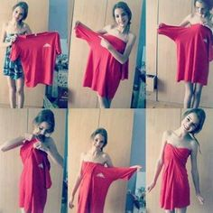 How to Turn Old Clothes into Something New It's simple to art fashionable outfits with a few simple steps that will help you update your outfit's collection. Apply some of these awesome DIY outfits. Diy Outfits, Cute Outfits, Fashionable Outfits, Big Shirt Outfits, Tomboy Outfits, Diy Dress, Dress Up, Wrap Dress, Tube Dress