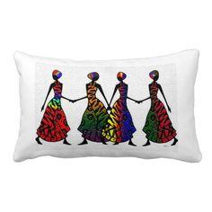 African Dance Of Sisterhood, Pillow