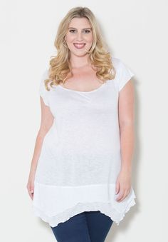 plus-size-fashion white Black And White Tees ce030fa3576e