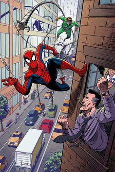 INKS Some good ol' Spidey fan-art! Spider-Man pin-up COLORS Marvel Comic Universe, Marvel Dc Comics, Marvel Heroes, Marvel Avengers, Comics Universe, Venom Comics, Amazing Spiderman, All Spiderman, Spectacular Spider Man