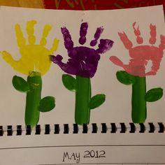 Handprint calendar May