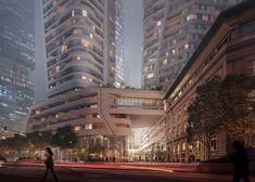 UNStudio Reveals New Renderings of Massive Frankfurt Skyscraper Development,Courtesy of UNStudio
