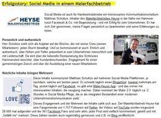 Erfolgsstory Interview: Social Media beim Malerfachbetrieb Heyse aus Hannover. Social Media für Handwerksbetriebe