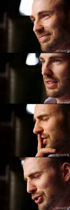 Chris Evans<-- that third picture though...