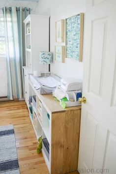 Gender Neutral Nursery with Reclaimed Furniture and Wood Accents