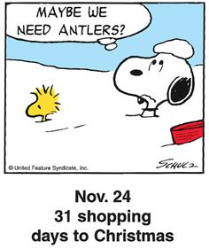 31 shopping days to Christmas!