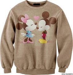 Mickey and Minnie Mouse Sweater Hoodie Sweatshirts, Pullover Hoodie, Hoodies, Disney Sweaters, Cute Sweaters, Sweet Style, Style Me, Disney Outfits, Cute Outfits
