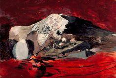 Graham Sutherland - Red Landscape  (1942)  Oil on canvas, 68 x 99.8 cm