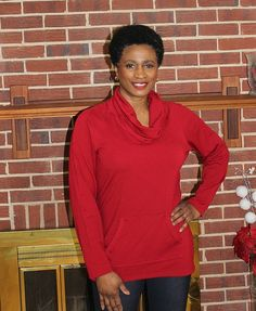 On the blog: this gorgeous red cowl neck top DIY from Vogue patterns 9055!