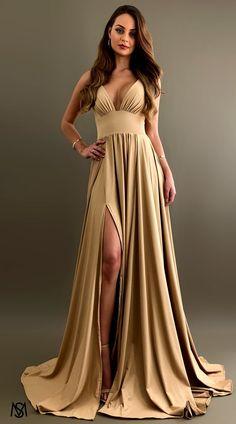 Nude V Bridesmaid Gold Satin Dress, Satin Dresses, Prom Dresses, Wedding Dresses, Formal Dresses Online, Formal Gowns, Dress Online, Formal Skirt, Formal Prom
