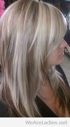Lovely blonde hair with white highlights