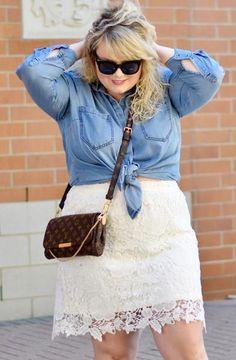 Plus Size Lace Skirt - Plus Size Fashion for Women