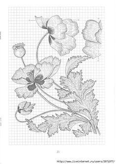 (64) Gallery.ru / Фото #65 - Рисунки для вышивки гладью, лентами и ришелье-3 - Vladikana