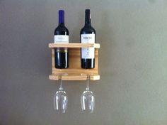 Suporte para 2 vinhos e taças Mais