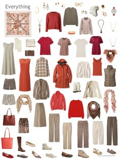 22.+a+12-outfit+wardrobe+in+beige%2C+taupe%2C+and+shades+of+red.JPG (720×960)