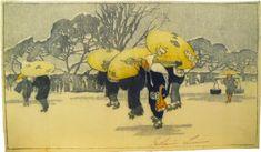 Woodblock prints (Estampes) :: Winter