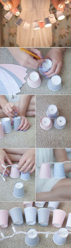 Turn string lights into a kid's night light - 10 DIY Ideas To Repurpose Holiday Stuff Into Year-Round Decor | GleamItUp