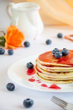 pancakes alla ricotta e amarene